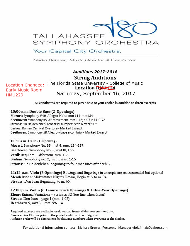 2016auditionhome | Tallahassee Symphony Orchestra